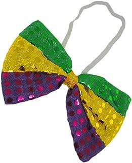 Purple Green & Gold Sequin Mardi Gras Bowtie