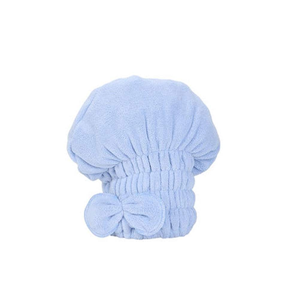 恋人どうしたの社説MEIYUFUZHUANG-A シャワーキャップ、豪華なシャワーキャップのすべての髪の長さと厚さのためのかわいいドライシャワーキャップ、肌に優しいサンゴフリース生地、再利用可能なシャワー。 家庭用品 (Color : B-Blue)