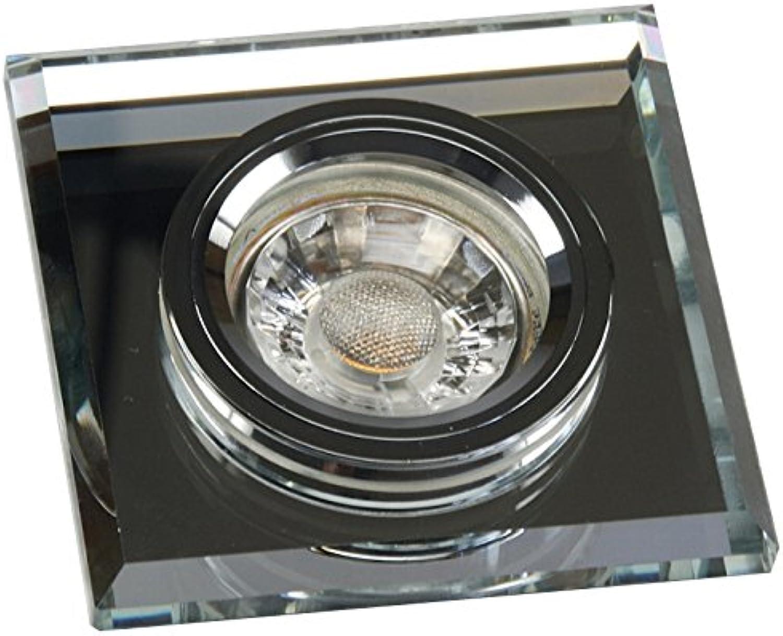 5 Stück MCOB LED Glas Einbaustrahler Tristan 12 Volt 3 Watt Starr Silber Neutralwei