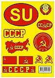 aprom CCCP - Lámina adhesiva de la Unión Soviética de Rusia para coches
