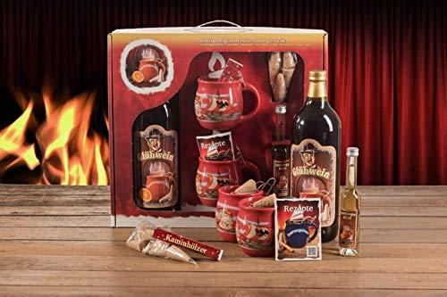 Feuerzangentasse Geschenkset rot