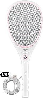Chlry Mata Mosquitos electrico Raqueta, USB Recargable con Luces LED Seguro, Matamoscas Electrico Mata Anti Anti Anti Interiores Mosquitos Exterior Interior zancudo antimosquitos