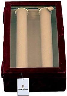 Kuber Industries Wooden 2 Rod Bangle Box KI0010003, (Maroon)