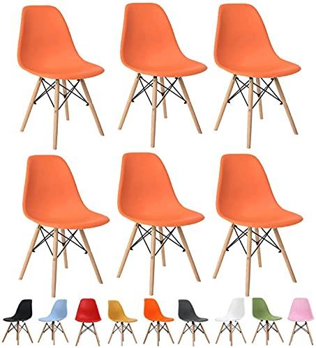 WYBW Silla de comedor para el hogar, juego de 6 sillas de comedor, asiento de restaurante, diseño moderno, sillón retro, taburete de maquillaje, pesca, camping, balcón, jardín, silla de plástico,A