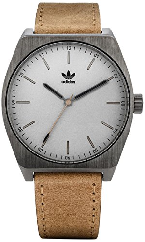 Adidas Herren Analog Quarz Uhr mit Leder Armband Z05-2916-00