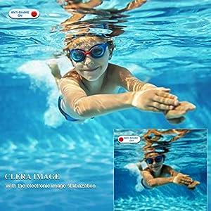 Unterwasserkamera Digital Wasserdicht 2,7K 48 MP Unterwasserkamera Selfie Dual Screens 16X Digitalzoom Digitalkamera Wasserdicht zum Schnorcheln