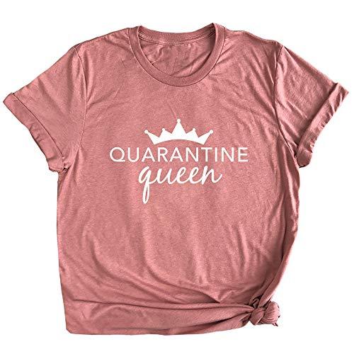 Spunky Pineapple Quarantine Queen Funny Quarantine Life Shirt for Her Premium Unisex Ladies T-Shirt Mauve
