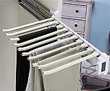 Hosen-Rack-Rack 10 Arme Stahl ausziehen Hosen Rack Hosen Kleiderbügel-Kleidung-Organisatoren für...