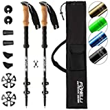 Foxelli Aluminum Trekking Poles – Collapsible, Lightweight, Aluminum 7075 Hiking, Walking & Running Sticks...