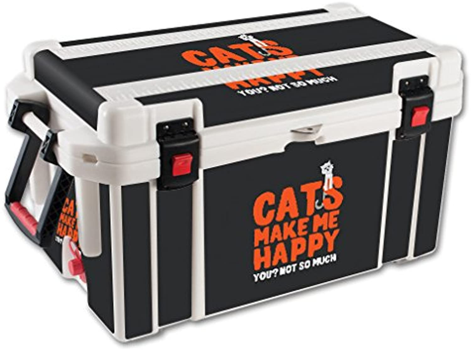 MightySkins Skin Compatible with Pelican 65 qt Cooler – Cats Make Me Happy   Predective, Durable, and Unique Vinyl Decal wrap Cover   Easy to Apply, Remove, and Change Styles   Made in The USA
