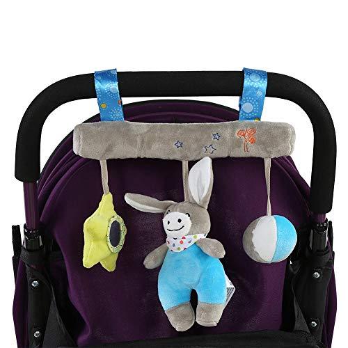 Kinderwagen aanhanger speelgoed pasgeborenen zachte schattige cartoon dier pluche kinderwagen winkelmandje hanger zuigeling bed hangende ring speelgoed accessoires grijs