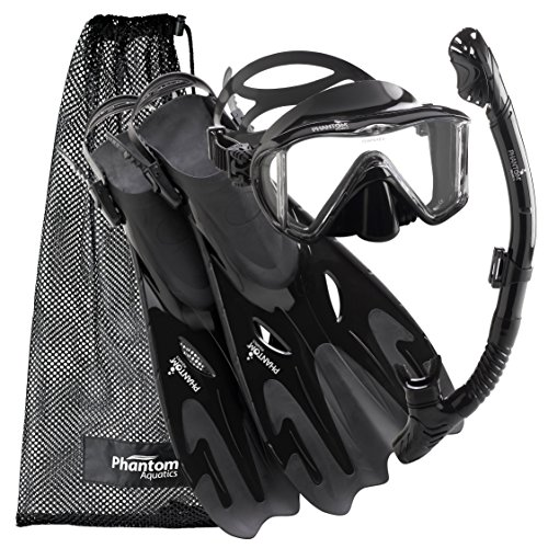 Phantom Aquatics Legendary Mask Fin Snorkel Set with Mesh Bag