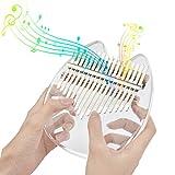 17キーカリンバ 親指ピアノ 透明なアクリル素材 キャリーバッグ付き ミュージカルギフト (クマ形)