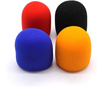 FitHom Colorful Sponge Microphone Cover,Handheld Thicken Windproof Anti-Drop Anti-Spray Dust-Proof Microphone Cover for KTV,Karaoke,DJ,Host and Singer(4pcs)