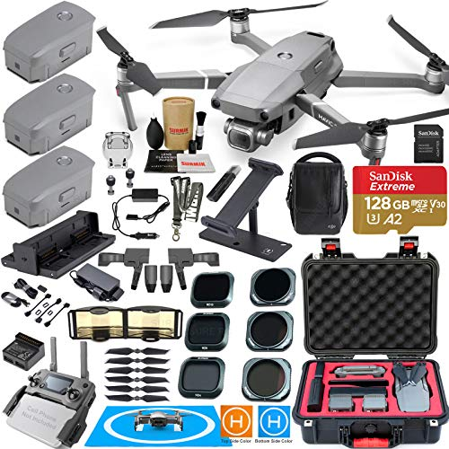 DJI Mavic 2 Pro Drone Fly More Combo Kit -Comes with 3 Batteries, Hasselblad Camera Gimbal, Rugged Carrying Case and Must Have Accessories