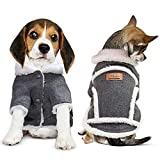 DB Warm Winter Dog Jacket, Lightweight Shearling Fleeced Coat for Small - Medium Dogs and Medium - Large Breed Puppies