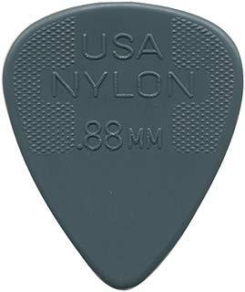 Dunlop 44R88 .88mm Nylon Standard Guitar Picks, 72-Pack