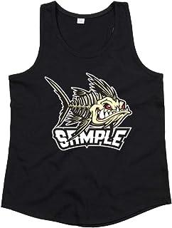 Druckerlebnis24 Camiseta de tirantes unisex para niños y niñas con diseño de pez piranha