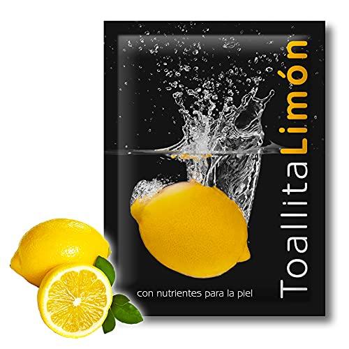 GPQ - Toallitas de Limón Frescas y húmedas de celulosa 100% Biodegradable para la Limpieza de la Manos en sobre monodosis (500 Und.)