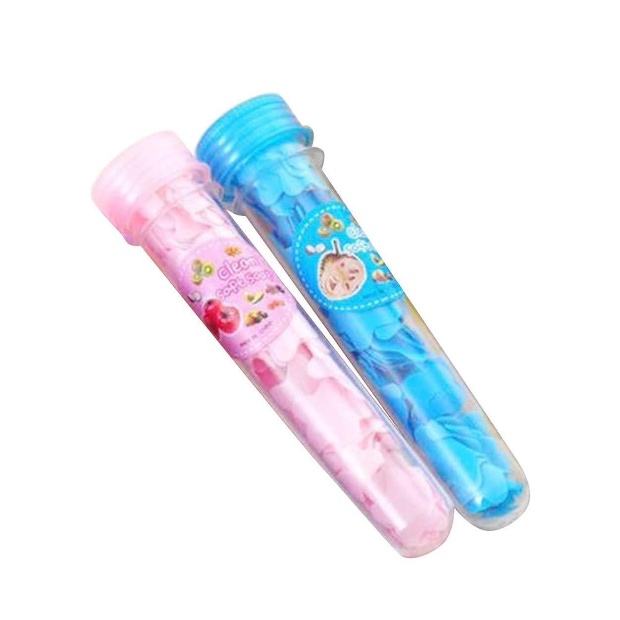 置くためにパックルームズームSUPVOX 2ピース乾燥石鹸の葉発泡ボックス紙石鹸フレーク洗濯ハンドバスソープスライドシートランダムカラー