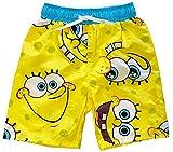 Spongebob Squarepants Little Boys Swim Trunks (Yellow, 5/6)