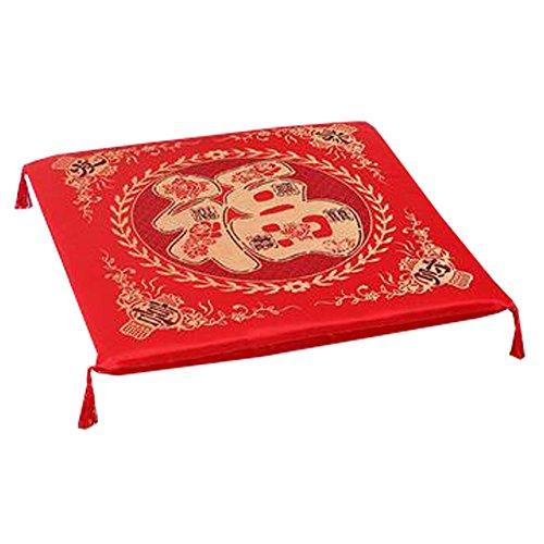Phoenix Wonder Durable Squared Seat Breathable Chair Cushion Chinese Wedding Cushion Kneel Pad, Congratulations