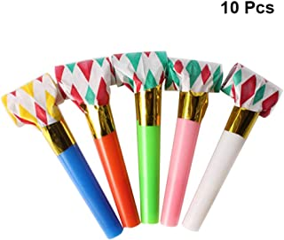 TOYANDONA 10pcs Party Kids Blowouts Whistles Noise Makers Horns Party Favors for Carnival Birthday Sport Event