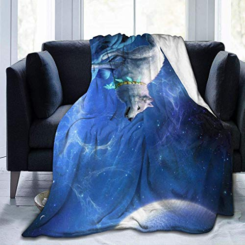 XXUU Wolf Fleece Blanket Throw Lightweight Blanket Super Soft Cozy Bed Warm Blanket for Living Room/Bedroom All Season