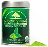 Organic Ceremonial Matcha (Emerald Class 100g) Chef's Choice Quality Japanese Matcha Powder For...