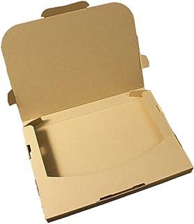 愛パック ダンボール ネコポス 最大 3cm ゆうパケット クリックポスト 対応 A4サイズ 段ボール 箱 梱包 10枚 日本製 無地 薄型素材 (308×220×28mm) nek01-10