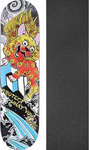 Skateboard-Brett/Deck, 20,6 x 81,3 cm, mit Mob-Grip, perforiertes schwarzes Griptape, 2 Stück