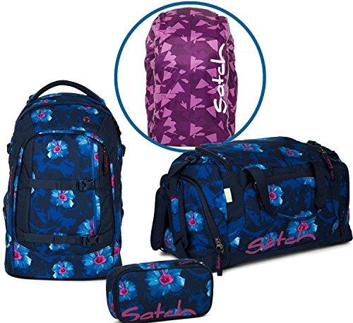 Satch Schulrucksack Set 4-TLG Pack Waikiki Blue blau