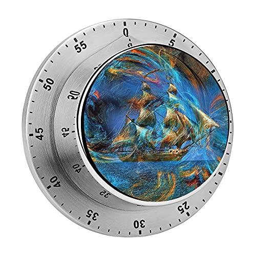 Temporizador de cocina, Abstractos de Color Digital Arte de la Foto Magnético chasis de acero inoxidable de alarma, utilizado para la cocina de cocina, hornear, fitness ejercicio temporizador