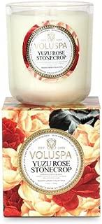 Voluspa Yuzu Rose Stonecrop Classic Maison Boxed Candle, 12 Ounce