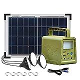 ECO-WORTHY 84 Wh Panneau solaire portable Kit complet Générateur d'éclairage avec Panneau solaire 18W + Lampe LED pour...