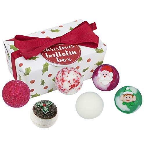 Bomb Cosmetics Christmas Handmade Bath Coffret Cadeau Ballotin Enveloppé de Melts, Contient 6 Pièces de 30 g Chacune [Contenu variable]