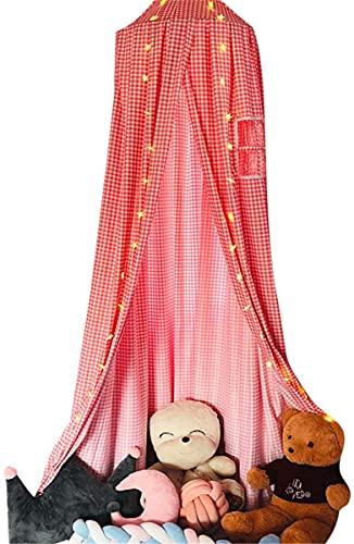 JIAJBG Cama de la Princesa Cama para Niños Cama de Bebé, Cama con Cama Premium Play Tent Wedding, Cúpula Redonda Niños Tienda Mosquitera Net, Niños Cortinas Redondas Fácil instalac