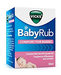 Vicks BabyRub can be used for the management of congestion in babies 6 months of age an above