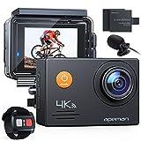 【新型】 APEMAN アクションカメラ 4K高画質 2000万画素 HDMI出力 スポーツカメラ 2インチ液晶画面 40M 防水カメラ 170度広角レンズ アクセサリー 多数バイクや自転車や車に取り付け可能 水中カメラ 防犯カメラ ウェアラブルカメラ [メーカー1年保証]