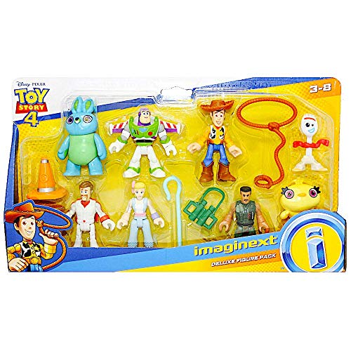 Imaginext Toy Story Deluxe Figure Pack of 8 Figures 2.5' with Forky