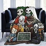 Kaopey Horror Movie Chucky Doll Throw Blanket Luxury Fleece Blanket for Bed Farmhouse Outdoor Living Room for All Season