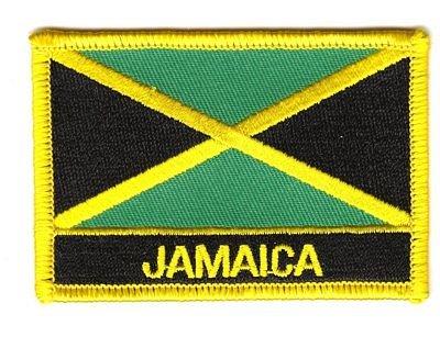 Flaggen Aufnäher Patch Jamaika/Jamaica Schrift Fahne