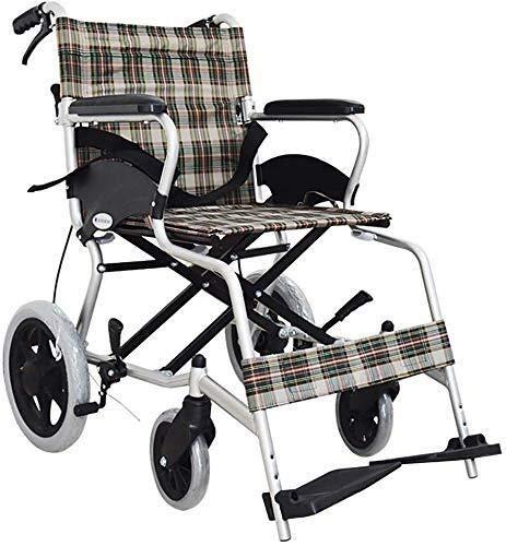 Busirsiz Rollstuhl / Rollstuhl / Rollstuhl, leicht, tragbar, Aluminiumlegierung, für ältere Menschen mit Behinderung