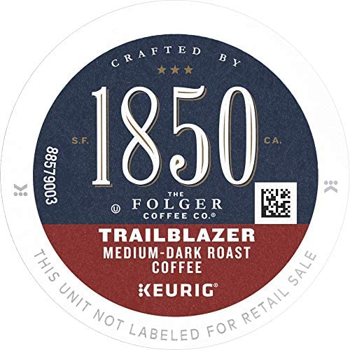 1850 by Folgers Trailblazer Medium Dark Roast Coffee 60 Keurig K Cup Pods product image