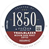 1850 by Folgers Coffee Trailblazer Medium Dark Roast Coffee, 60 K Cups for Keurig Coffee Makers, 10 Count (Pack of 6)