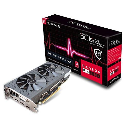 Sapphire Pulse Radeon RX 580 8GD5 Scheda Grafica 8 GB, GDDR5, 256 bit Memory Bus