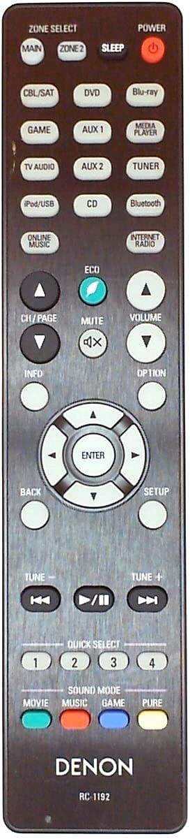 Genuine DENON RC-1192 Audio Inexpensive Directly managed store Receiver Remote Video Control