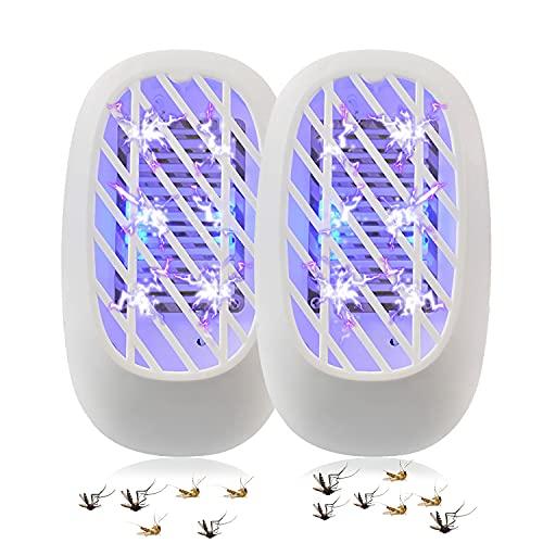 LOFFU Elektrischer Insektenvernichter, Fliegenfalle Elektrisch Insekten-Mückenfalle, Moskito Mörder Insektenlampe Mückenschutz Fliegenfalle für Innen Schlafzimmer und Gärten
