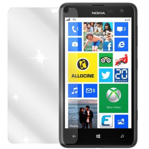 dipos I 2X Schutzfolie klar kompatibel mit Nokia Lumia 625 Folie Bildschirmschutzfolie