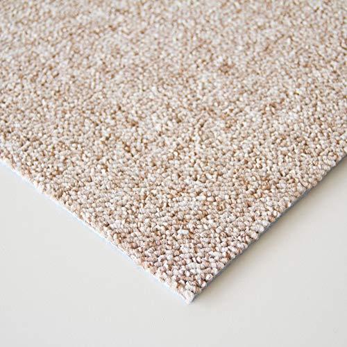 Steffensmeier Schlingen Teppichboden Meddon XL Meterware | Auslegware für Flur Büro | 1m 2m 3m 4m 5m breit! | Beige, Größe: 400x400 cm